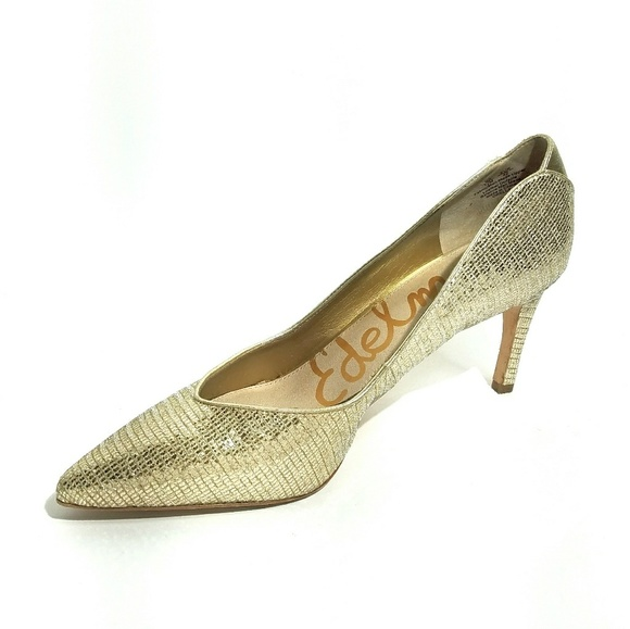 b9d107056 Sam Edelman Shoes - Sam Edelman Orella gold metallic pointed heels 12